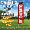 Rent to Own Auto (Red/White) Flutter Feather Flag Kit (Flag, Pole, & Ground Mt)