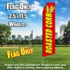 Roasted Corn (Red/Yellow) Flutter Feather Flag Only (3 x 11.5 feet)