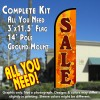 Sale (Fall Theme) Windless Feather Banner Flag Kit (Flag, Pole, & Ground Mt)