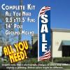 SALE (Patriotic) Flutter Feather Banner Flag Kit (Flag, Pole, & Ground Mt)