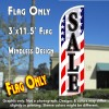 Sale (Patriotic Waves) Windless Polyknit Feather Flag (3 x 11.5 feet)