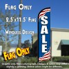 SALE (Patriotic) Windless Feather Banner Flag (2.5 x 11.5 Feet)