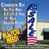 SALE (Stars & Stripes) Flutter Feather Banner Flag Kit (Flag, Pole, & Ground Mt)
