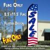 SALE (Stars & Stripes) Flutter Polyknit Feather Flag (11.5 x 2.5 feet)