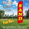 Sand (Red/Yellow Letters) Flutter Feather Flag Only (3 x 11.5 feet)