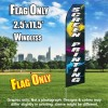 Screen Printing (Multicolor/White) Econo Feather Banner Flag
