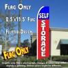 SELF STORAGE (Blue/Red) 2.5 Flutter Feather Banner Flag (11.5 x 2.5 Feet)