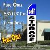 SELF STORAGE (Blue/White) Flutter Feather Banner Flag (11.5 x 2.5 Feet)