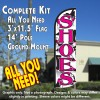 Shoes (Pink) Windless Feather Banner Flag Kit (Flag, Pole, & Ground Mt)