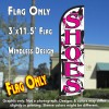Shoes (Pink) Windless Polyknit Feather Flag (3 x 11.5 feet)