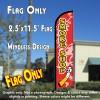 SMOKE SHOP Windless Feather Banner Flag (2.5 x 11.5 Feet)