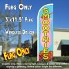 Smoothies Windless Polyknit Feather Flag (3 x 11.5 feet)