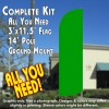 Solid Green Windless Feather Banner Flag Kit (Flag, Pole, & Ground Mt)