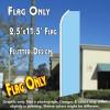 Solid Light Blue Flutter Feather Banner Flag (11.5 x 2.5 Feet)