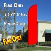 Solid RED Windless Polyknit Feather Flag (2.5 x 11.5 feet)