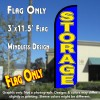 Storage (Blue/Yellow) Windless Polyknit Feather Flag (3 x 11.5 feet)