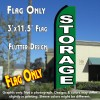 STORAGE (Green) Flutter Feather Banner Flag (11.5 x 3 Feet)