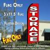 STORAGE (Red/White) Flutter Feather Banner Flag (11.5 x 3 Feet)
