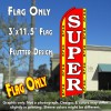 SUPER SALE (Red/Yellow) Flutter Feather Banner Flag (11.5 x 3 Feet)