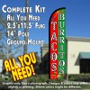 TACOS BURRITOS (Red/Green) Windless Feather Banner Flag Kit (Flag, Pole, & Ground Mt)