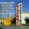 Tacos & Burritos (White) Windless Feather Banner Flag Kit (Flag, Pole, & Ground Mt)