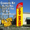 Tax Service Fast Refund Windless Feather Banner Flag Kit (Flag, Pole, & Ground Mt)
