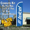 TelCel Windless Feather Banner Flag Kit (Flag, Pole, & Ground Mt)