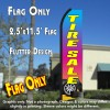 TIRE SALE (Gradient) Flutter Polyknit Feather Flag (11.5 x 2.5 feet)