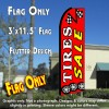 TIRES SALE (Red) Flutter Feather Banner Flag (11.5 x 3 Feet)