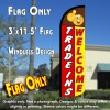 Trade Ins Welcome Windless Polyknit Feather Flag (3 x 11.5 feet)