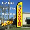 TUTORING Windless Polyknit Feather Flag (2.5 x 11.5 feet)