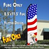 USA AMERICAN PATRIOTIC (Eagle) Flutter Polyknit Feather Flag (11.5 x 2.5 feet)