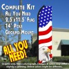 USA AMERICAN PATRIOTIC (Eagle) Flutter Feather Banner Flag Kit (Flag, Pole, & Ground Mt)