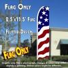 USA NEW GLORY Flutter Feather Banner Flag (11.5 x 2.5 Feet)