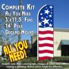 USA PRIDE Flutter Feather Banner Flag Kit (Flag, Pole, & Ground Mt)