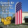 USA STARS AND STRIPES (Flag Pattern) Flutter Feather Banner Flag Kit (Flag, Pole, & Ground Mt)