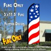 USA SWIRLS Flutter Feather Banner Flag (11.5 x 3 Feet)