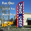 Used Cars (Starburst) Windless Polyknit Feather Flag (3 x 11.5 feet)