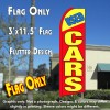 USED CARS (Yellow/Red) Flutter Feather Banner Flag (11.5 x 3 Feet)