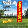 VAPE SHOP red/yellow letters Econo  Feather Banner Flag Kit
