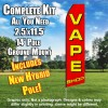 VAPE SHOP (Red/Yellow) Econo Feather Banner Flag Kit (Flag, Pole, & Ground Mt)