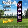 VAPE SHOP (Black/PINKSMOKE) Econo Feather Banner Flag