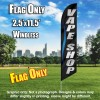 VAPE SHOP black/silver letters blue line Flutter Feather Banner Flag