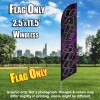 VAPE SHOP black/black letters purple smoke Windless Feather Banner Flag