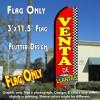 VENTA DE LLANTAS (Checkered) Flutter Feather Banner Flag (11.5 x 3 Feet)