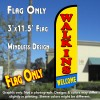 Walk-ins Welcome Windless Polyknit Feather Flag (3 x 11.5 feet)
