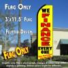 WE FINANCE EVERYONE (Yellow) Flutter Feather Banner Flag (11.5 x 3 Feet)