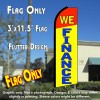WE FINANCE (Red/Yellow) Flutter Feather Banner Flag (11.5 x 3 Feet)