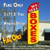 We Sell Boxes (Yellow/Red) Windless Polyknit Feather Flag (3 x 11.5 feet)
