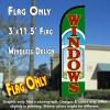 Windows Windless Polyknit Feather Flag (3 x 11.5 feet)
